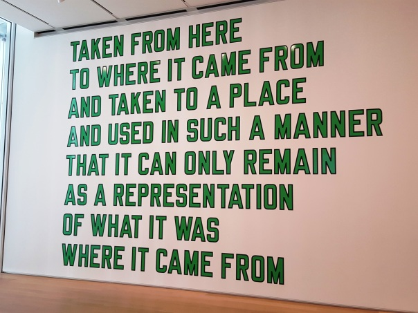 From Chicago Art Institute. Artist Lawrence Weiner.